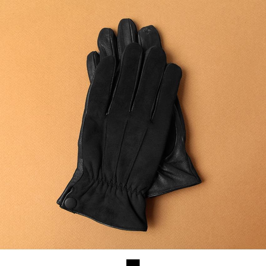 [현재분류명],스웨이드 배색 단추 양가죽 남자 장갑 M1718009,남자장갑,가죽장갑,남자가죽장갑,양가죽장갑,겨울장갑,신사장갑,스웨이드장갑,쎄무장갑,킹스맨