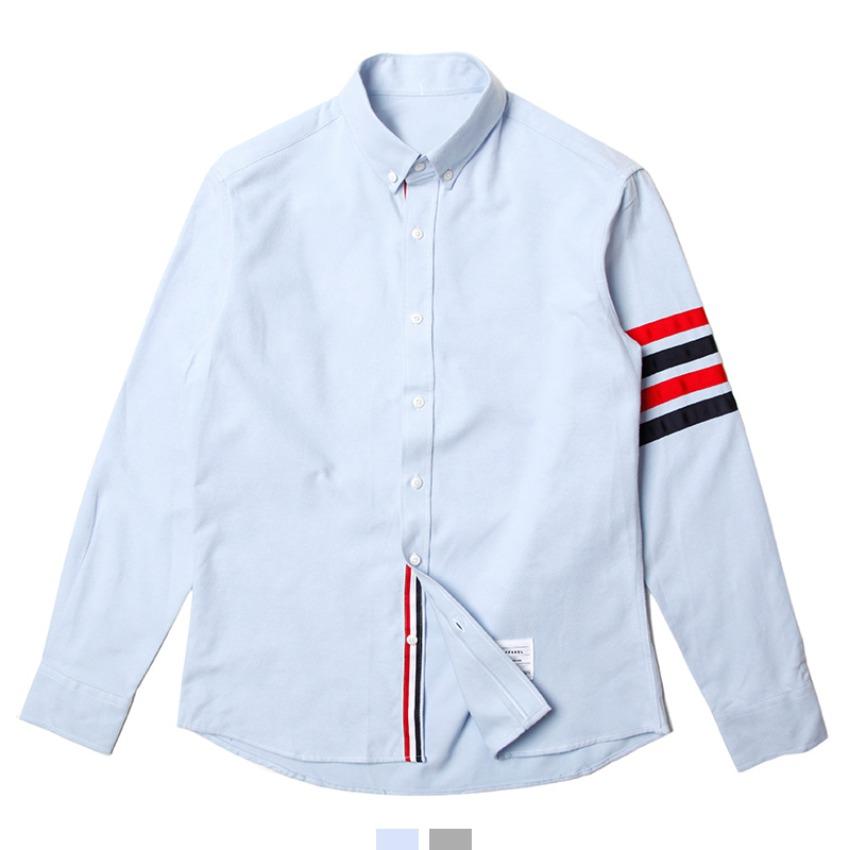[현재분류명],컬러 테이프 긴팔 셔츠 AJ0418001,기모셔츠,기모남방,톰배색셔츠,톰ST셔츠,톰셔츠,배색셔츠,긴팔셔츠,긴팔남방,가을남방,킹스맨